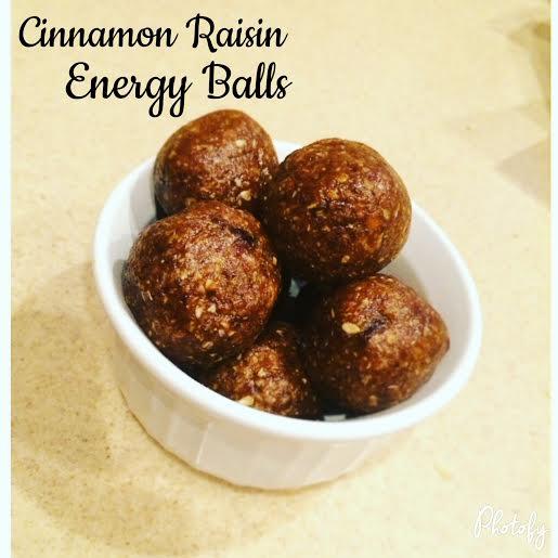 Cinnamon Raisin Energy Balls | Beauty and the quiche